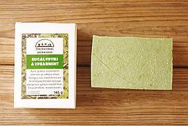 Греческое оливковое мыло ручной работы Эвкалипт & Мята (The Natural Workshop), 145g., Греция