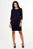 Платье туника женская с карманами и рукавом тричетверти длинна 90 см 42 44 46 48 50 52  Р