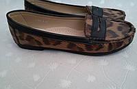 Новые леопардовые туфли, балетки, мокасины