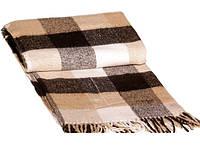 Теплый плед на кровать Vladi 20% шерсть (полуторный размер)