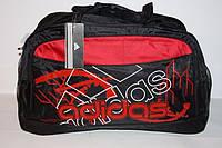 Дорожная сумка Адидас красная абстракция