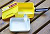 Ланч бокс Mouldsure для обедов (2 этажа, ложка, удобная ручка). Малиновый, фото 2