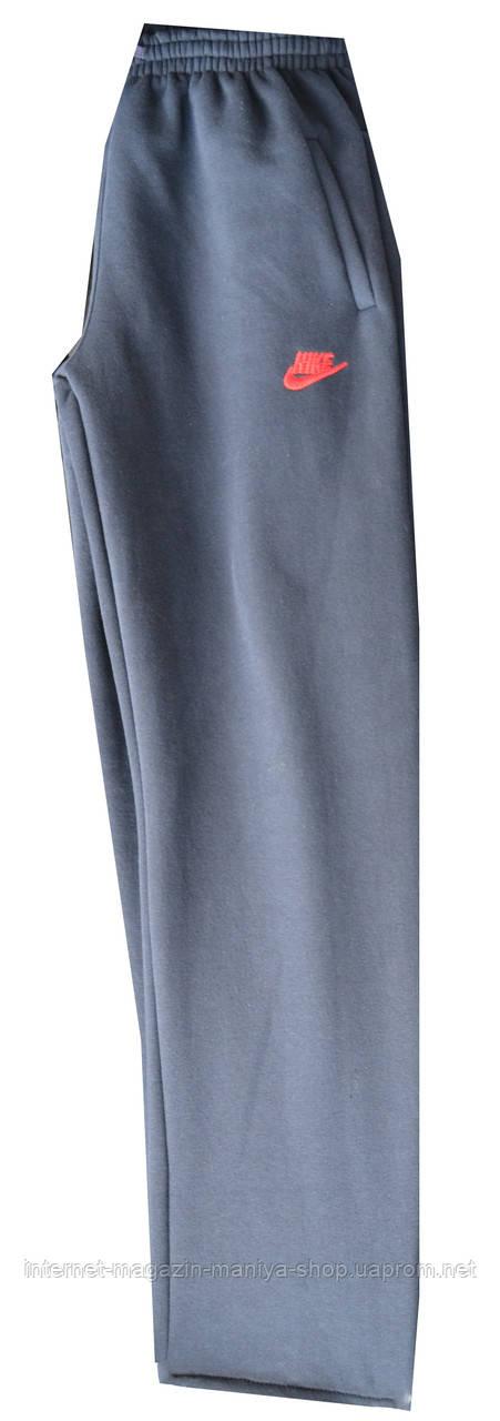 Спортивные штаны мужские Nike полу батал теплые