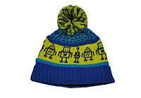 Детская зимняя шапка с помпоном Deux par Deux
