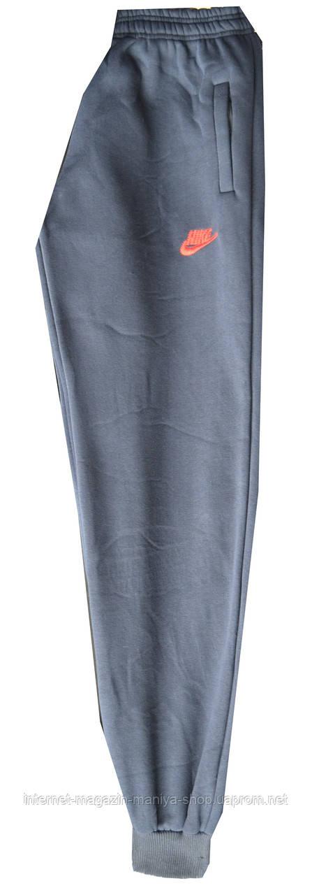 Спортивные штаны мужские Nike батал теплые манжет