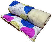 Одеяло из овечьей шерсти, поликотон+мех 180×210см