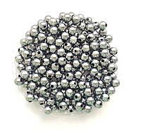 Бусины Жемчуг Серебро металлик 8 мм Упаковка 50 гр/190 шт, фото 1