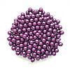 Бусины Жемчуг Пурпурный металлик 8 мм Упаковка 50 гр/190 шт