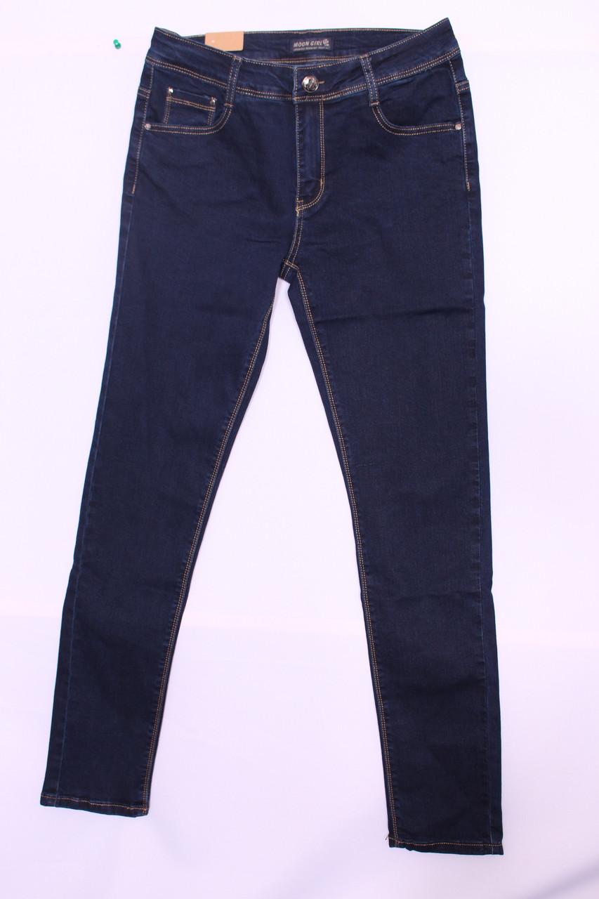 Женские приуженные  джинсы больших размеров Moon girl (код 8093-1) 30-38 размеры. опт.розница