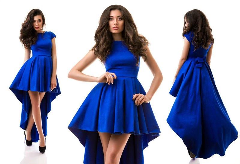 204bb265c016fa7 Короткое платье со шлейфом и пышной юбкой, цена 770 грн., купить Харків —  Prom.ua (ID#376809610)