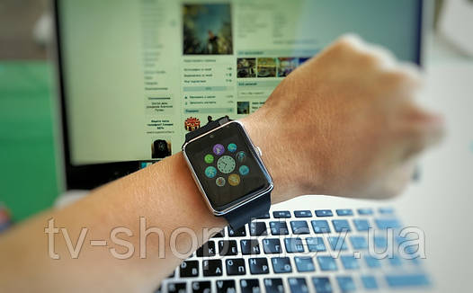 Часы-телефон Smart Watch Phone GT08 Black/Silver Copy