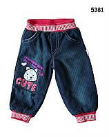 Теплые джинсы для девочки. 6-9 мес