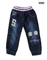 """Теплые джинсы """"Мышонок"""" для девочки. 3, 4, 5, 6  лет"""