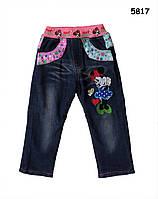 Теплые джинсы Minnie Mouse для девочки. 100 см