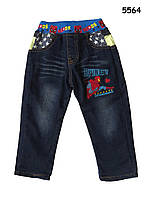 Теплые джинсы Spiderman для мальчика. 95, 100 см