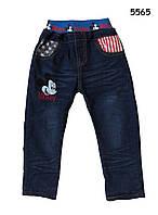Теплые джинсы Mickey Mouse для мальчика. 100, 110, 120 см
