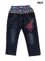 Теплые джинсы Spiderman для мальчика. 100, 110 см