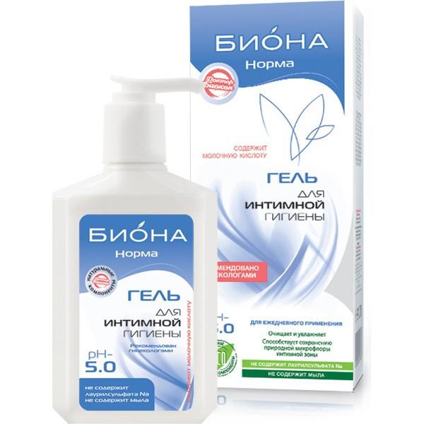 Гель для интимной гигиены Биокон Биона-норма 275 г - Очищает и увлажняет