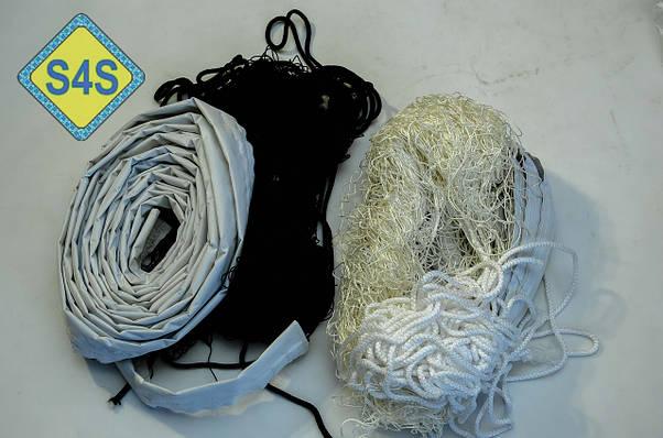 """Волейбольная сетка с тросом  капроновая D 1,2мм., 10см. ячейка для волейбола обшита с 4 сторон Капрон10 норма"""", фото 3"""