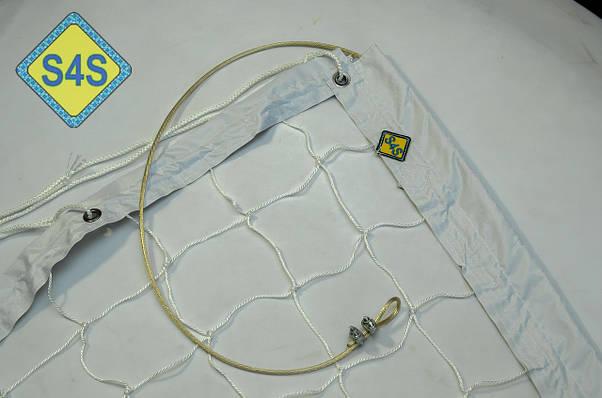 """Волейбольная сетка с тросом D 2,5мм., 10см. ячейка для волейбола обшита с 4 сторон """"Эконом 10 норма"""" , фото 3"""