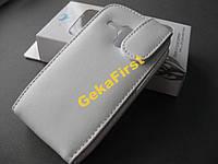 Кожаный чехол Doormoon Samsung Galaxy S3 mini I8190 (белый)