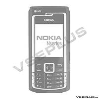 Корпус Nokia n72, черный, high copy