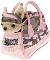 """Собачка CCL """"Чіхуахуа. Модний камуфляж"""" з сумочкою та браслетом для дівчинки, 20 см, 5+"""