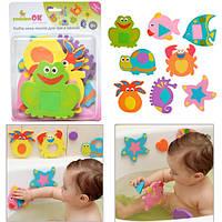 Набор аква-пазлов для игры в ванне Bath'n Puzzles, 8шт