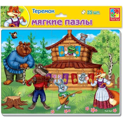 Мягкие пазлы А4 Сказки. Теремок VT1102-15