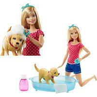 """Набор с куклой Barbie """"Веселое купание щенка"""""""