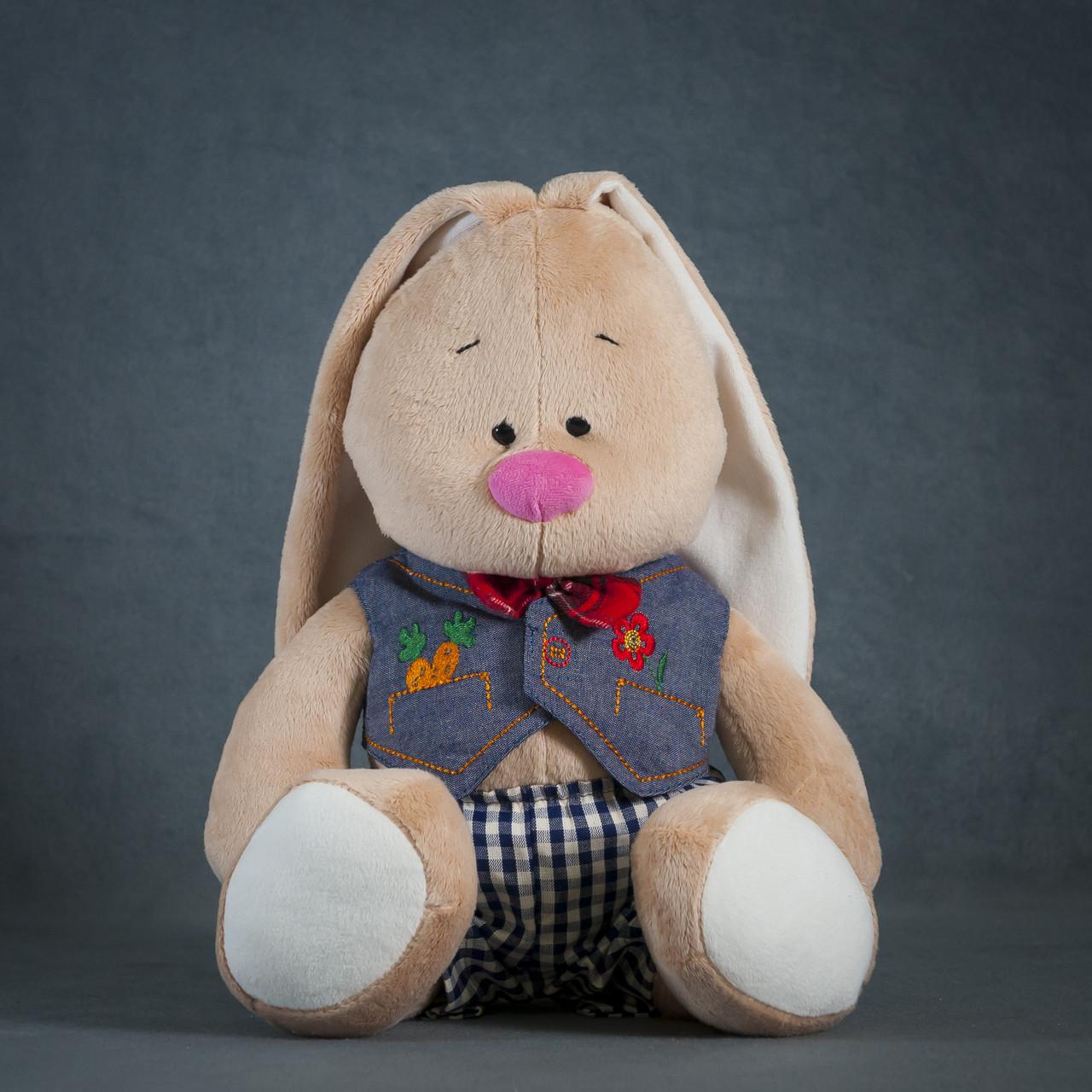 Зайка-Кроха мальчик  h=43cm