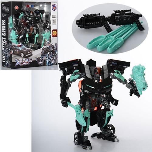Трансформер 8820A  23см, робот-машинка, оружие, в кор-ке, 30-36,5-12,5см