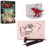 Раскопки 501B (36шт) 3D скелет динозавра(в гипсе), динозавр, инструменты 3шт, в кор-ке, 20-30-5,5см