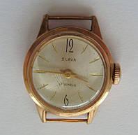 """Часы """"Слава"""", женские, золото 583 пробы."""