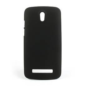 Чехол пластиковый матовый на HTC Desire 500 506e, черный