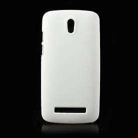 Чехол пластиковый матовый на HTC Desire 500 506e, белый