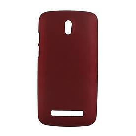 Чехол пластиковый матовый на HTC Desire 500 506e, бордовый