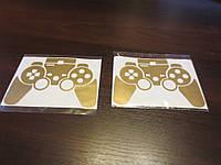 Наклейка для джойстика PS3 золото SlickWraps