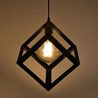 Подвесной светильник [ Black Block Loft ] (кубик), фото 1