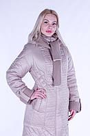 Пальто зимнее женское, пуховик р. 50-64, бежевый