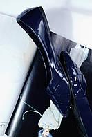 Балетки женские лаковые синие
