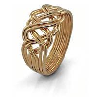 Золотое кольцо головоломка «Элегантность» WickerRing
