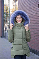 Зимняя куртка парка с капюшоном  р 44,46,48