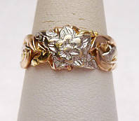 Кольцо из Белого и Желтого золота «Жасмин» от WickerRing