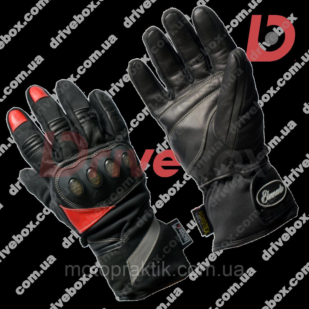Elemento 177 Winter Gloves Blk/Red, L Мотоперчатки утеплені