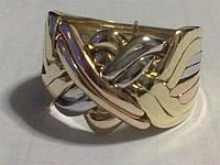 Перстень из белого, желтого и розового золота от WickerRing
