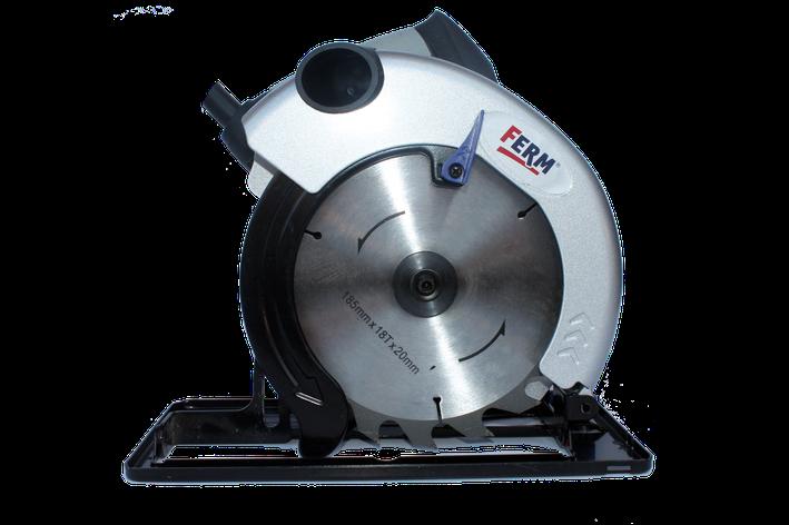 FERM пила дисковая  диск 185мм, фото 2