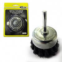 Щетка Werk торцевая плетеная со стержнем 75 мм (WE107375)