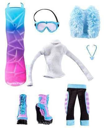 d715410d6e5b Одежда для куклы Эбби Боминейбл (Monster High Snowboard Club Abbey  Bominable Fashions Pack),