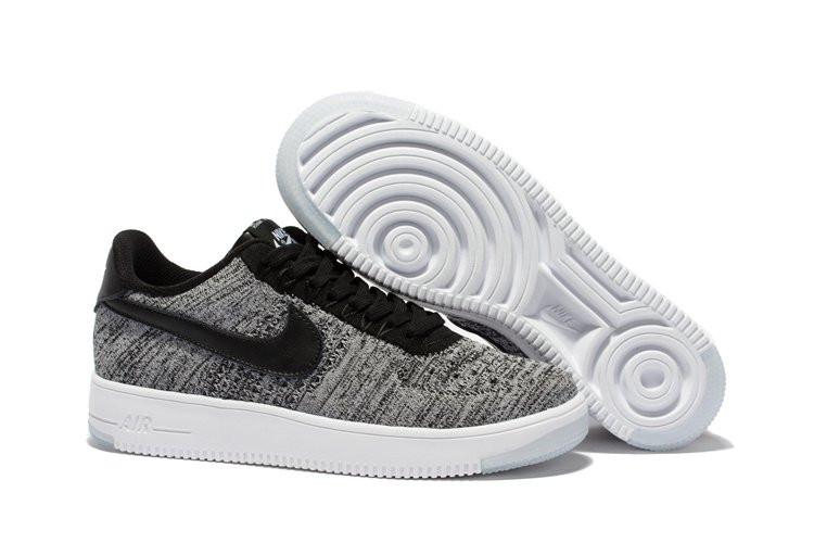 d009b367 Женские кроссовки Nike Air Force 1 Flyknit low grey - Интернет магазин  обуви Shoes-Mania